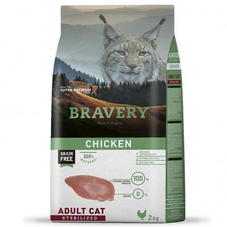 Bravery Gato Adulto Esterilizado Pollo
