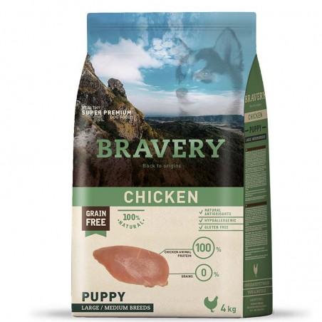 Bravery Perro Puppy Medium-Grande Pollo
