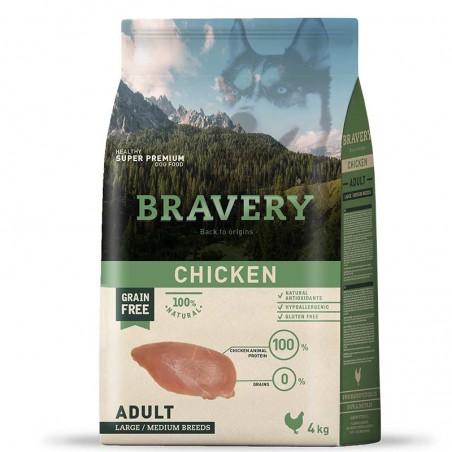 Bravery Perro Adulto Medium-Grande Pollo