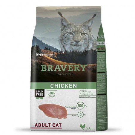 Bravery Gato Adulto pollo 2Kg