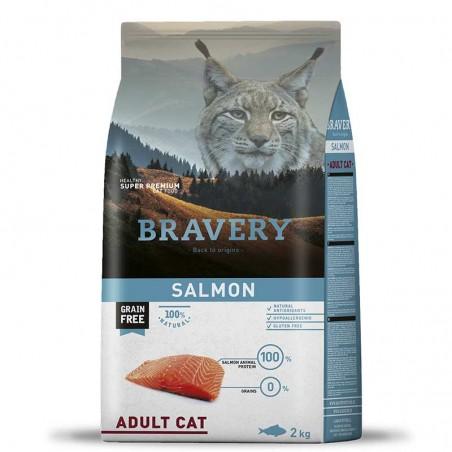 Bravery Gato Adulto Salmón 2 Kg